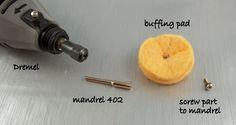 2 Good Claymates: How to Attach Our Dremel Buffing Pads