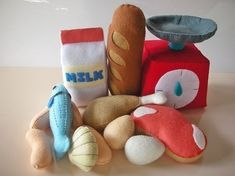 Felt Food Market Set Pattern PDF by julyhobby on Etsy, $3.99