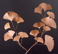 Copper Gingko Branch, I have this piece in my home...striking.