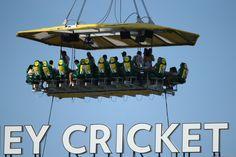 Enjoy KFC up in the Sky, way up above the Sydney Cricket Ground.