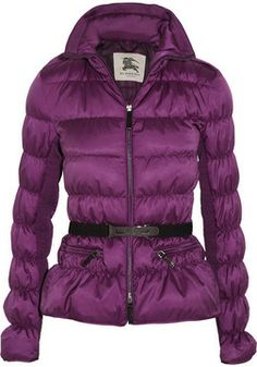 Burberry London Quilted ruched shell coat at styletheories.com
