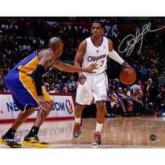 Chris Paul Signed vs Kobe Bryant Horizontal 8x10 Photo (Signed in Silver)