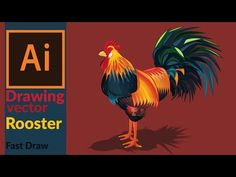 How to draw a vector Rooster in adobe illustrator - Ostergeschenke Basteln Graphic Design Trends, Web Design, Graphic Design Tutorials, Adobe Illustrator Tutorials, Learn Illustrator, Photoshop, Affinity Designer, 3d Drawings, Book Design Layout
