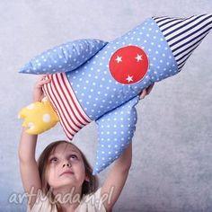 Prezent Poduszka dziecięca rakieta, rakieta-poduszka, przytulanka-rakieta