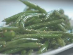 Heavenly Sauteed String Beans with Garlic : Recipes : Cooking Channel