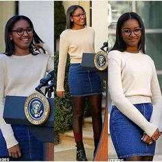 "Sasha Obama, i won't be surprised at all. ""You go, girl! Barack Obama Family, Malia Obama, Obama Daughter, First Daughter, Black Presidents, American Presidents, Beautiful Young Lady, My Black Is Beautiful, Stunningly Beautiful"
