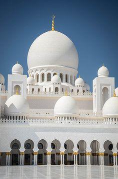 Sheikh Zayed Grand Mosque, Abu Dhabi #travel                                                                                                                                                                                 More