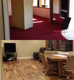"""""""Purchased this home and it had original carpet from 1987. What a difference the new floor made in the room."""" – John, MI {Tobacco Road Acacia}"""