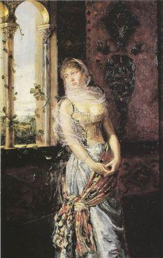 Henri Decaisne (French painter, 1799-1852) – Odalisque