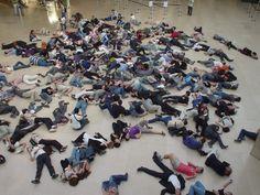 Participate in a flash mob.