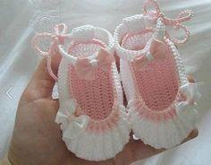 ballerinas a crochet para bebe - Buscar con Google