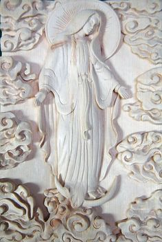 Mother Mary.  Carved by Nyoman Sumerta for a private collector.  Sumerta Designs.   www.sumerta.com