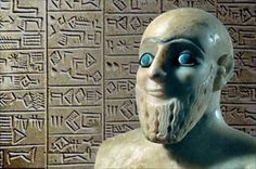 Ancient Sumerian with blue eyes