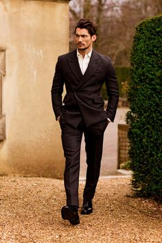 David Gandy photographed by Arnaldo Anaya Lucca and styled by Paul Mather for GQ Japan