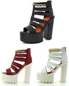95b94063dea Tronchetti donna alti spuntati estivi scarpe bianche zeppa e catene sandali  mare