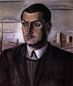 Salvador Dali, Portrait of Luis Bunuel, 1924, Oil on canvas, Post-Impressionism