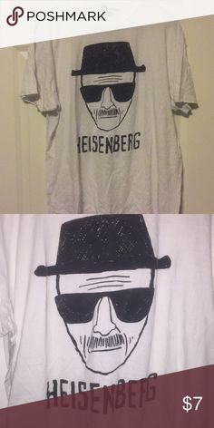 Heisenberg Size XL White Tee. Let's Cook Jesse! This Heisenberg shirt is a size XL. It is a thin cotton tee. Gently worn. Shirts Tees - Short Sleeve