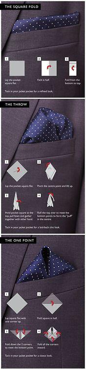 Men's Pocket Square Tutorial