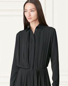 Maxine Silk Shirtdress - Short  Dresses - RalphLauren.com