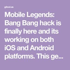 Mobile Legends: Bang Bang hack is finally here and its working on both iOS and Android platforms. This generator is free and its really easy to use! Choose Your Story Games, Episode Choose Your Story, Play Hacks, App Hack, Iphone Mobile, Android Hacks, Mobile Legends, Bang Bang, Bangs