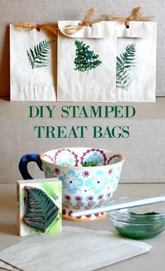 Add a special touch this Autumn season with a thoughtful little hand stamped gift bag. Fill it with goodies. These DIY little bags are easy to make and are great for teacher treats, kids lunches, etc.