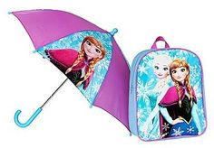 Buy Disney Frozen Backpack and Umbrella Set at Argos. Backpack Umbrella, Kids Umbrellas, Kids Luggage, Girls Accessories, Disney Frozen, Knitting Projects, Girl Outfits, Backpacks, Argos