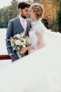 Bride and groom enjoy a moment alone during their fall wedding in the Adirondacks in Upstate New York. Boho Wedding, Fall Wedding, Dream Wedding, Elopement Ideas, Elopement Inspiration, Outdoor Wedding Inspiration, Outdoor Weddings, New York Wedding, Couple Posing