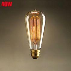 E27 40W Incandescent Bulb 220V ST64 Retro Edison Light Bulb