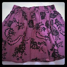 PINK Victoria's Secret Skirt Elastic waist skirt with lace print. In excellent used condition. PINK Victoria's Secret Skirts Mini