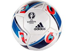 adidas Euro 16 Competition Match Ball - White & Bright Blue | SoccerMaster.com