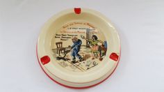 Very Rare ceramic talking ashtray domestic by VintageFindsFrance