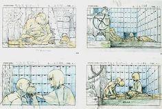 Film: Spirited Away (千と千尋の神隠し) ===== Layout Design - Scene: True Love Saved You ===== Hayao Miyazaki