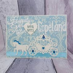 Cinderella wedding card Happily ever after fairytale wedding Disney Inspired Wedding, Cinderella Wedding, Wedding Cards Handmade, Wedding Keepsakes, Handmade Cards, Handmade Gifts, Low Cost Wedding, Wedding Affordable, Budget Wedding