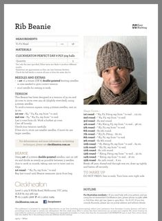 Men's Ribbed Beanie Men's Ribbed Beanie Knitting , lace processing is the single most beautiful hobbies that females cannot give up. Beanie Knitting Patterns Free, Knit Beanie Pattern, Beginner Knitting Patterns, Knitting Paterns, Loom Knitting, Knitting Stitches, Hat Patterns, Knitting Projects, Knit Hat For Men