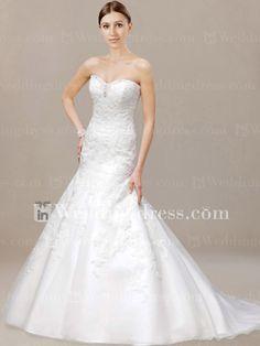 Organza Sweetheart Trumpet Wedding Dress DE216