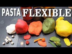 PASTA FLEXIBLE CASERA, TIPO POLIMERICA EN SARTEN SUPER FÁCIL Cold Porcelain, Flexibility, Clay, Make It Yourself, Formulas, Mosaic Ideas, Youtube, Food, Crafts