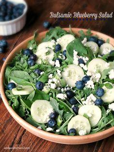 Balsamic Blueberry Salad | alidaskitchen.com