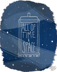 All Of Time And Space - 8 x 10 Illustration Print. $16.00, via Etsy.