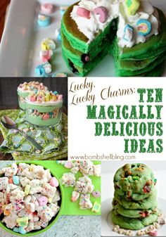 "Lucky, Lucky Charms 10 Magically Delicious Ideas--By SARAH WESTOVER MCKENNA--thank you, Pinterest, for leading me to these 10 ""Magically Delicious"" posts from other talented blogger.  Yum….."