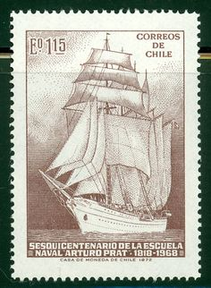Chile stamp: Sailing Ship