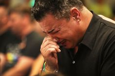 ORLANDO, FL - JUNE 12: Orlando (did not want to provide his last name) who was injured in the mass shooting at the Pulse Nightclub cries as he attends a memorial service at the Joy MCC Church for the victims of the terror attack where Omar Mateen allegedly killed more than 50 people on June 12, 2016 in Orlando, Florida. The mass shooting killed at least 50 people and injuring 53 others in what is the deadliest mass shooting in the countryÕs history. (Photo by Joe Raedle/Getty Images)