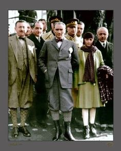 Mustafa Kemal Atatürk and his wife Latife. Republic Of Turkey, The Republic, Turkish Army, The Legend Of Heroes, The Turk, Fathers Love, Great Leaders, World Leaders, Historical Pictures