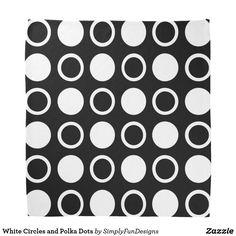 White Circles and Polka Dots Bandana