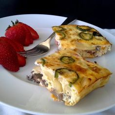 """Baked Omelet Squares 