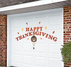 Thanksgiving Garage Door Décor @ Harriet Carter
