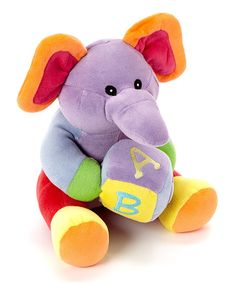 Take a look at this Musical ABC Elephant Plush Toy on zulily today!