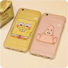 For iphone 6 6s plus 5s 5 Case Brushed Silicon Phone Cases Sponge Bob Square Pants Patrick Star Cute For Lovers Free Shipping,High Quality phone case,China phone case Suppliers, Cheap case from Jelly Beans' case shop on Aliexpress.com