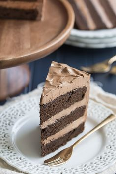 Simply Perfect Chocolate Cake: this is the BEST chocolate cake recipe out there. So simple to make, moist, and with tons of dark chocolate-y flavor!