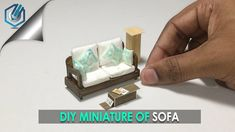 DIY miniature COUCH  (made with tissue paper!)