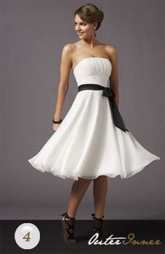 A-Line Strapless Cocktail Dress With Sash Style Code: 01017
